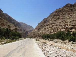 The road to Wadi Tiwi