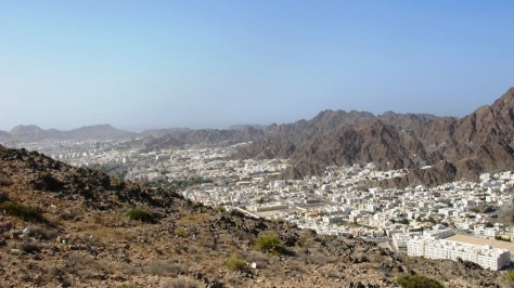 View of Ruwi and Wadi Al Khabir from lower part of view point