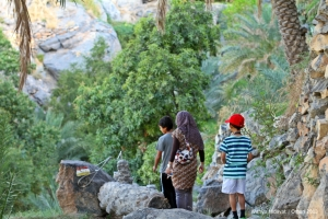 Morning trekking in Misfat Al Abryeen
