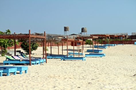 A short strip of beach at Turtle Beach Resort - Ras Al Hadd