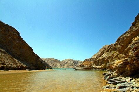 A secluded beach at Bandar Al Khiran