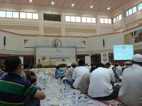 Indonesian mass iftar by RAF