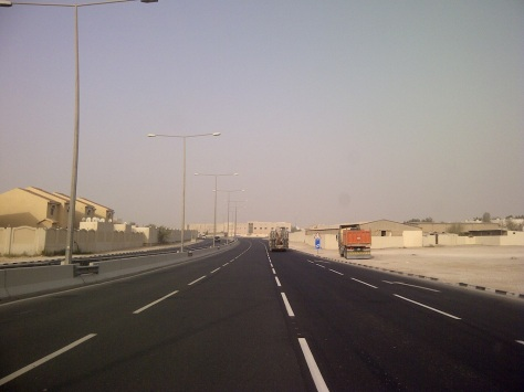 Al Gharrafa Street on Friday Morning. Ramadan. Summer