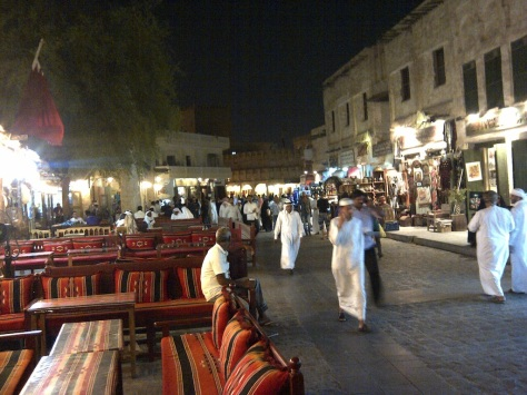 Souq Waqif is boisterous during Ramadan at night, even after past midnight