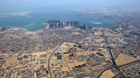 West-East view of Doha