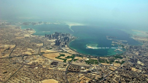 Look at that green patches of Doha's Central Park under halt