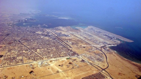 The loooong awaited Hamad International Airport on further right