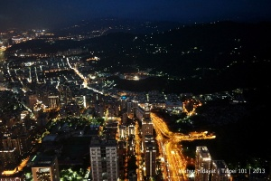 Another view at night of Taipei