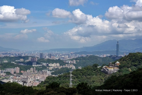 Taipei 101 from Maokong, south of Taipei