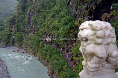 Shakadang Trail viewed from Bridge of 100 Lions