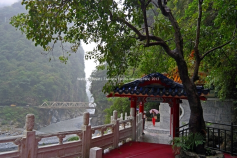 View to Changchun Bridge from the shrine