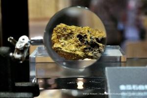 Gold ore. Gold Museum, Jinguashi Gold Ecological Park