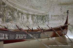 Aboriginal boat in National Taiwan Museum
