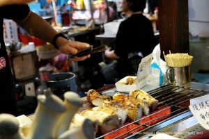 Mushroom grill Raohe Night Market