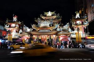Ci You Temple near the entrance of Raohe Night Market