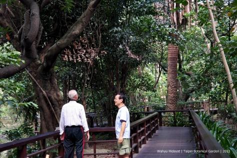 At Taipei Botanical Garden