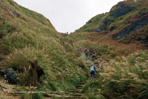 Hiking trails can be steep in places