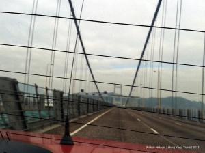 Tsing Ma Bridge connecting Hong Kong and Hong Kong Airport