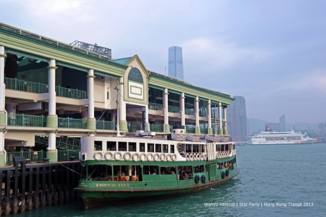 Star Ferry berthing at Central Ferry Pier