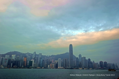 Hong Kong skyline just after sunrise