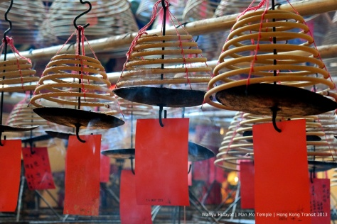 Man Mo Temple with its spiral incenses