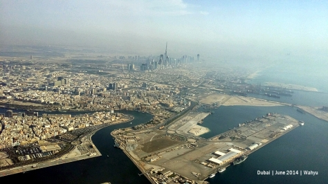 Dubai seen from above Deira
