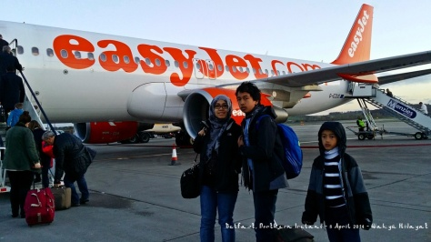 Flying easyjet, our favorite to Belfast