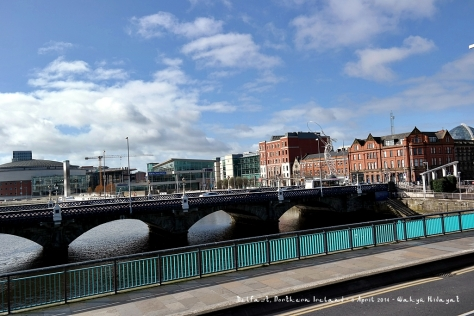 Bridges over River Lagan that connect Belfast to Titanic Quarter