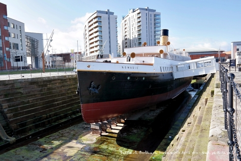 SS Nomadic, a steamship of the White Star Lane, which was used to ferry passengers from/to Titanic