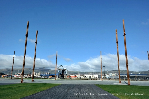 The launch site of Titanic, behind Titanic Belfast (Museum)