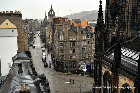 Royal Mile Street from Camera Obscura