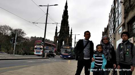 At Princes Street with Scott Monument in the background