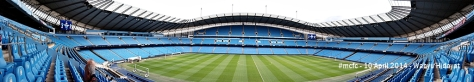 Panoramic view of the Etihad stadium