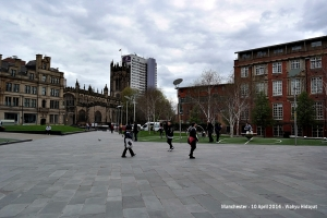 View towards Manchester Cathedral