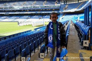 Fathan inside stadium