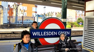 Willesden Green tube station, the nearest station to Wisma Siswa Merdeka