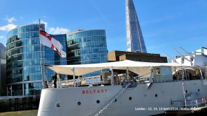HMS Belfast and the Shard
