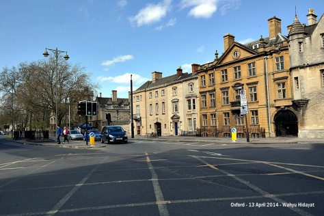A section of Oxford on Beaumont Street/Magdalena close to Ashmolean Museum