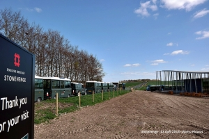 It's start with a ride from the center to the stones by using visitor shuttle