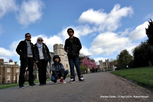 At The Long Walk with Windsor Castle background