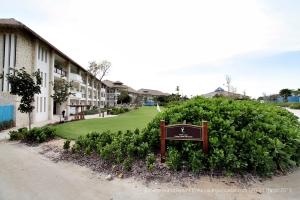 Golf Course near hotel-type buildings