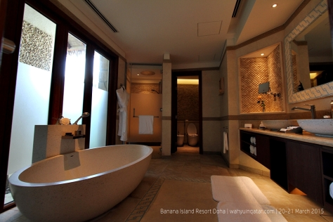 Large luxurious bathroom in the villa