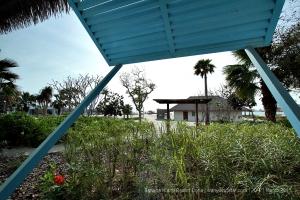 View from villa toward island beach