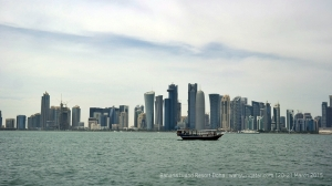 Doha's skyline can be enjoyed on the way to Banana Island