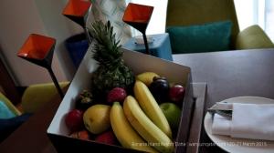 Welcome fruit basket. I like it has mangosteen