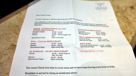 A list of restaurants and their opening times
