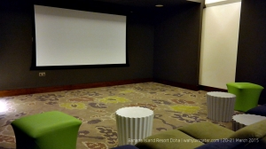 Movie room at teens club