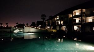 Lagoon area at night
