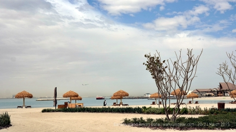 Being close to Hamad Airport, the island is subjected to noise generated from plane taking off