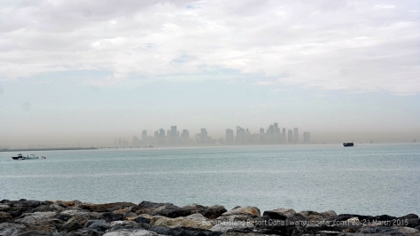 Doha Skyline from the island
